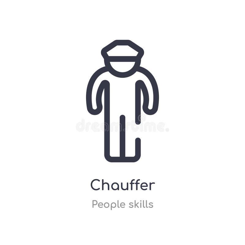 icona del profilo del chauffer linea isolata illustrazione di vettore dalla raccolta di abilit? della gente icona sottile editabi royalty illustrazione gratis
