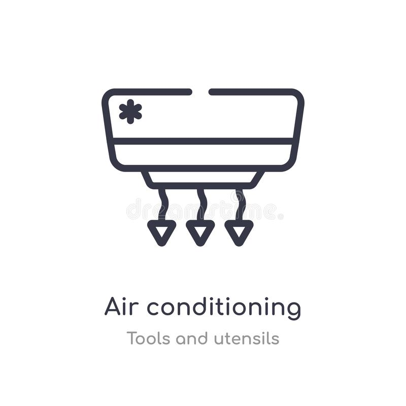 Icona del profilo del condizionamento d'aria linea isolata illustrazione di vettore dalla raccolta degli utensili e degli strumen illustrazione vettoriale