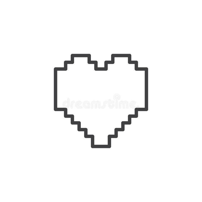 Icona del profilo del cuore dei pixel royalty illustrazione gratis