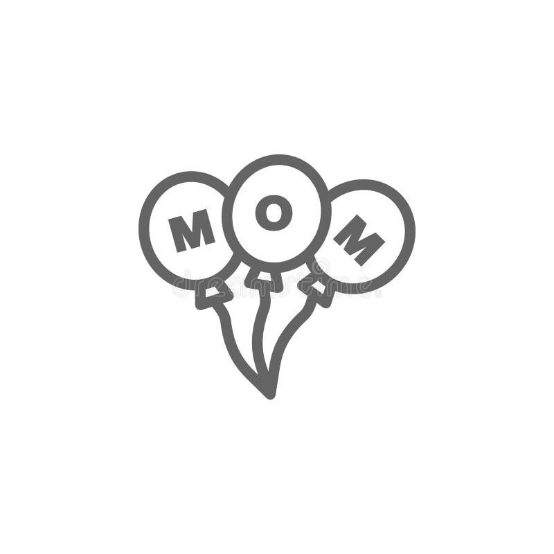 Icona del profilo dei palloni di giorno di madri Elemento dell'icona dell'illustrazione di giorno di madri I segni ed i simboli p royalty illustrazione gratis