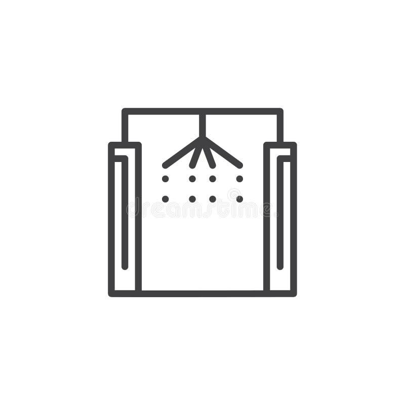 Icona del profilo dell'automobile di lavaggio royalty illustrazione gratis