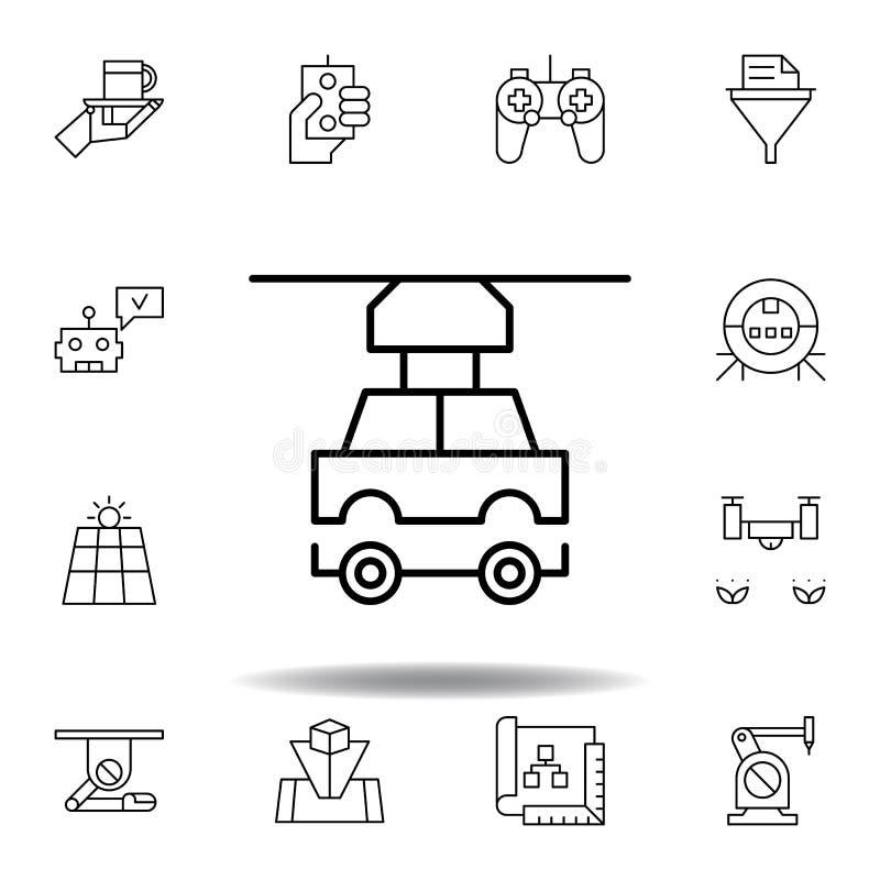 Icona del profilo dell'automobile del robot di robotica metta delle icone dell'illustrazione di robotica i segni, simboli possono illustrazione di stock
