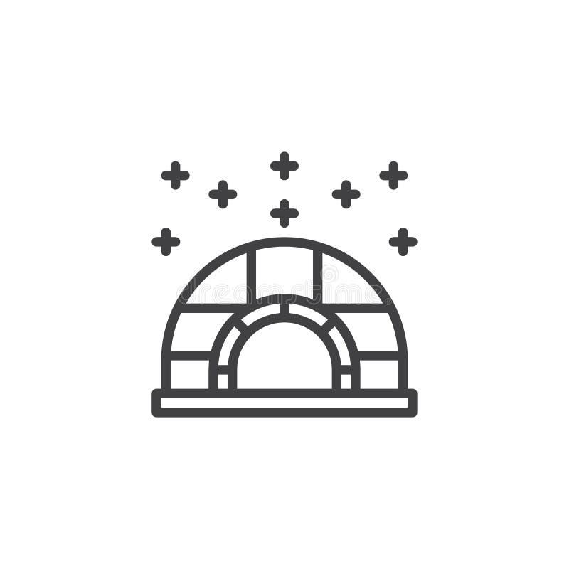 Icona del profilo dell'iglù di inverno royalty illustrazione gratis