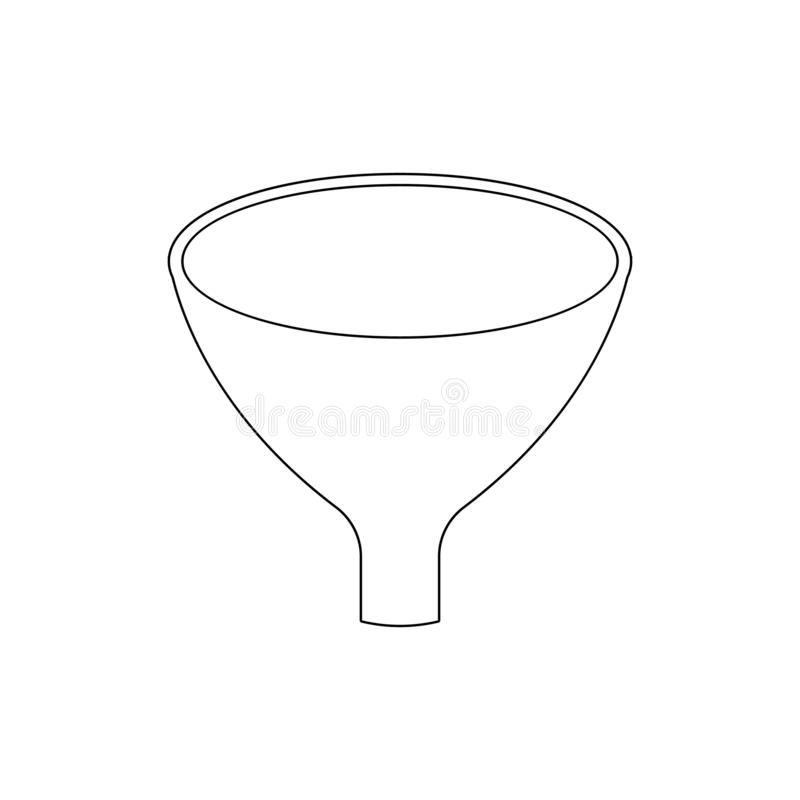 Icona del profilo dell'imbuto a filtro I segni ed i simboli possono essere usati per il web, logo, app mobile, UI, UX illustrazione di stock