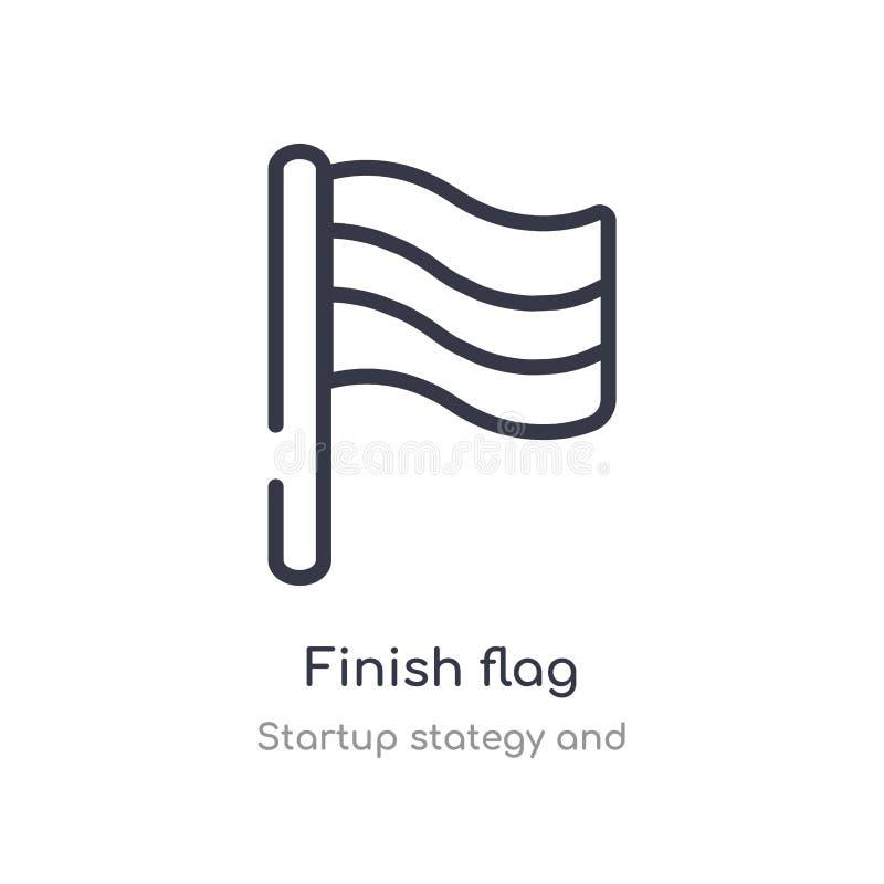 icona del profilo della bandiera di rivestimento linea isolata illustrazione di vettore dalla partenza stategy e dalla raccolta b illustrazione vettoriale