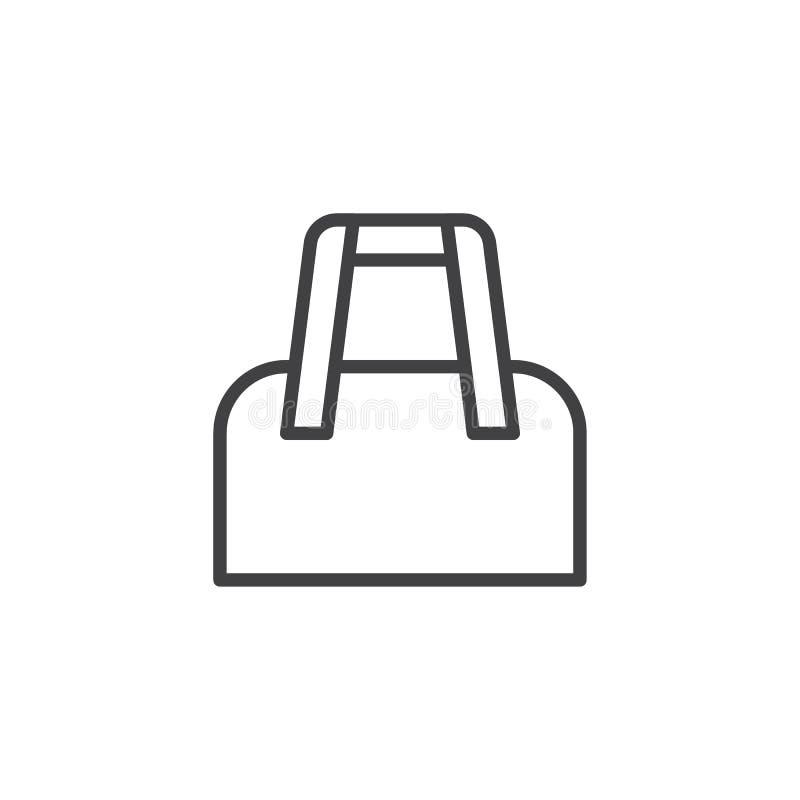 Icona del profilo della borsa delle signore illustrazione di stock