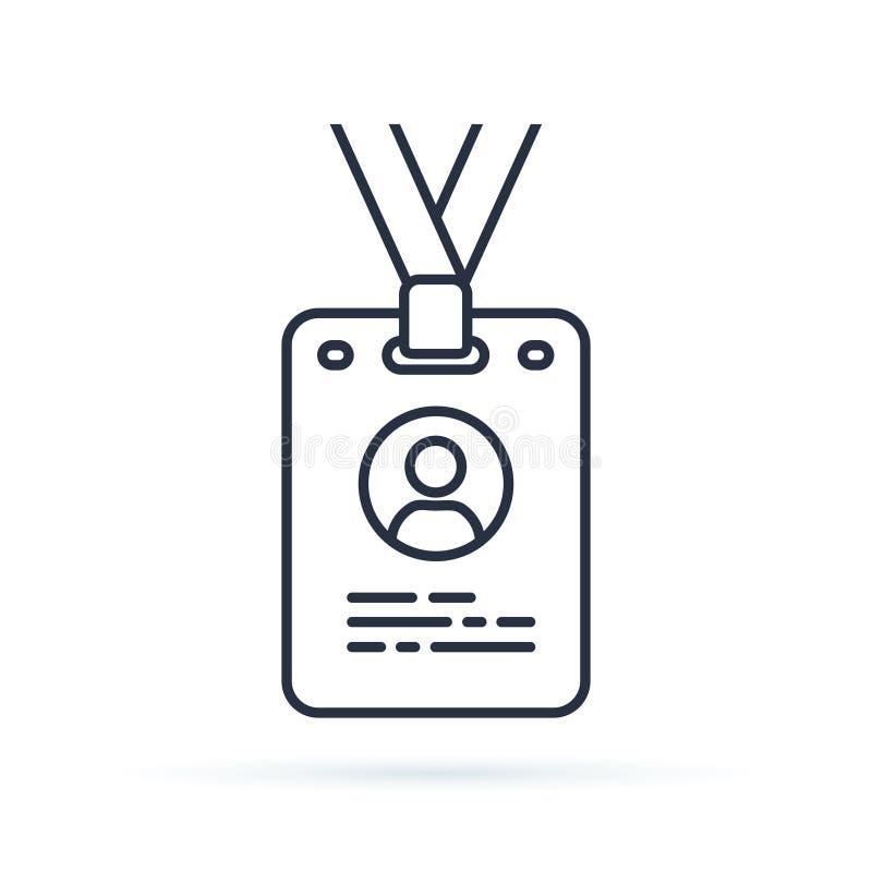 Icona del profilo della carta di stampa segno lineare di stile per il concetto ed il web design mobili Linea semplice icona del d illustrazione vettoriale