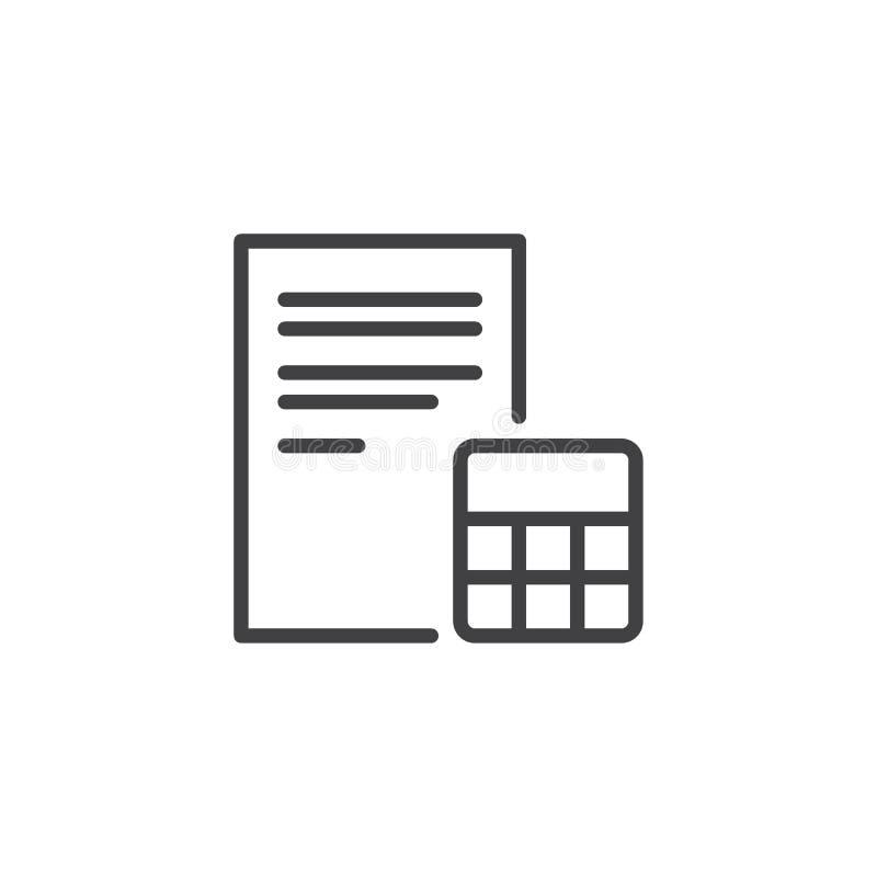 Icona del profilo della carta e del calcolatore royalty illustrazione gratis