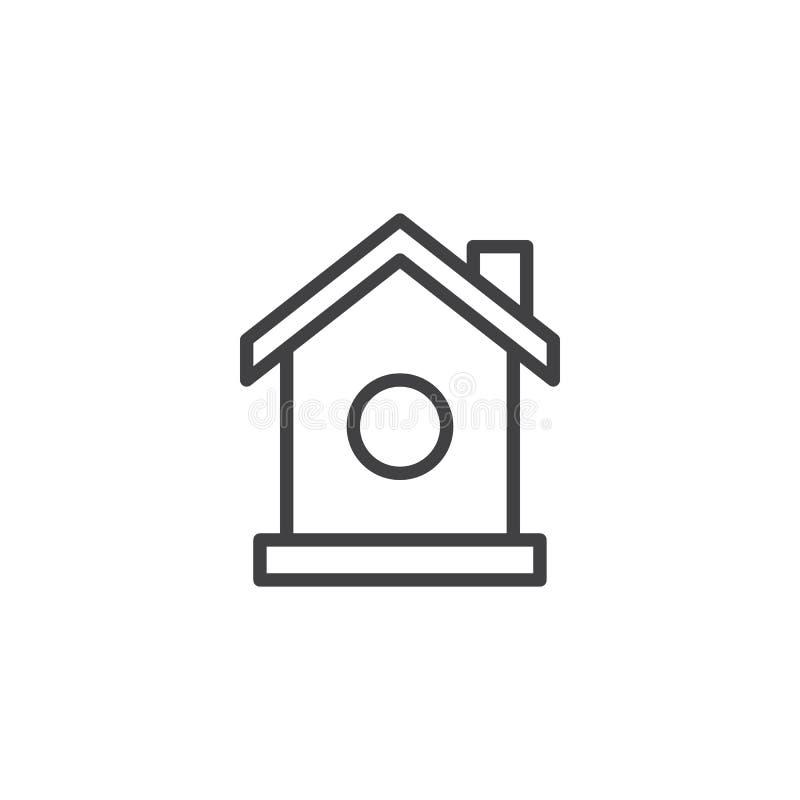 Icona del profilo della casa dell'uccello royalty illustrazione gratis