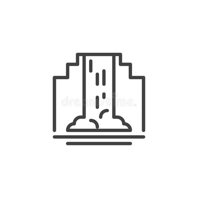 Icona del profilo della cascata illustrazione vettoriale