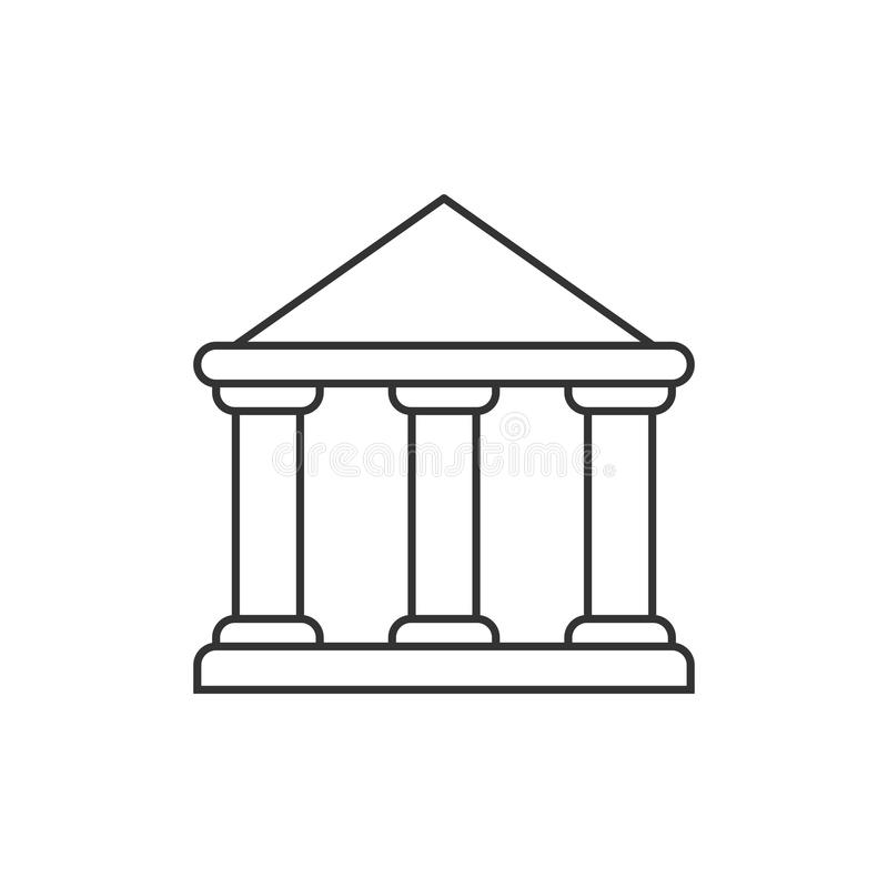 Icona del profilo della costruzione di governo illustrazione di stock