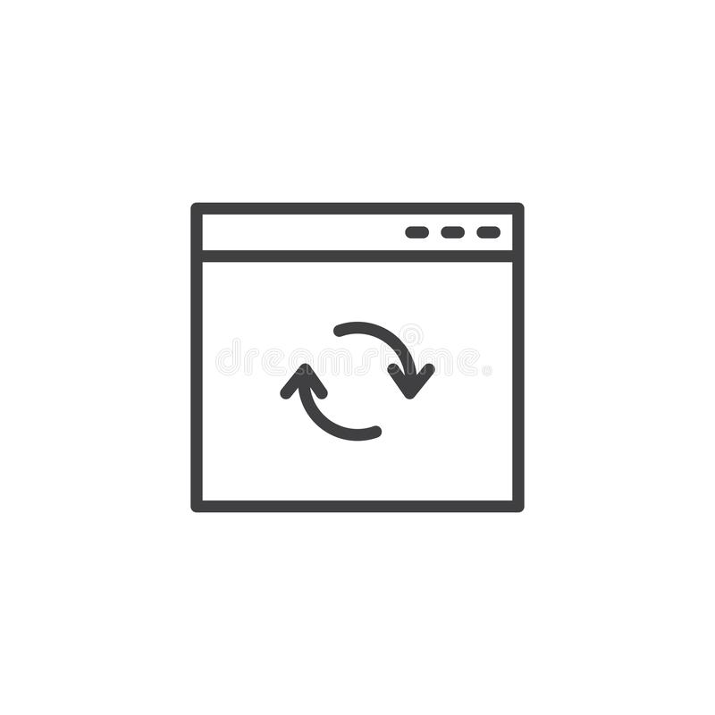 Icona del profilo della finestra di browser dell'aggiornamento illustrazione vettoriale