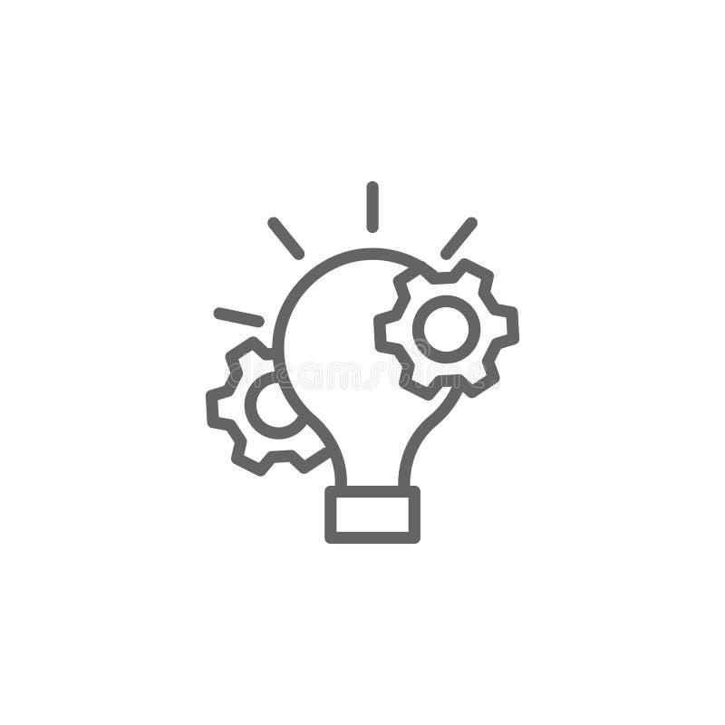 Icona del profilo della gestione di progetti Elementi della linea icona dell'illustrazione di affari I segni ed i simboli possono illustrazione vettoriale