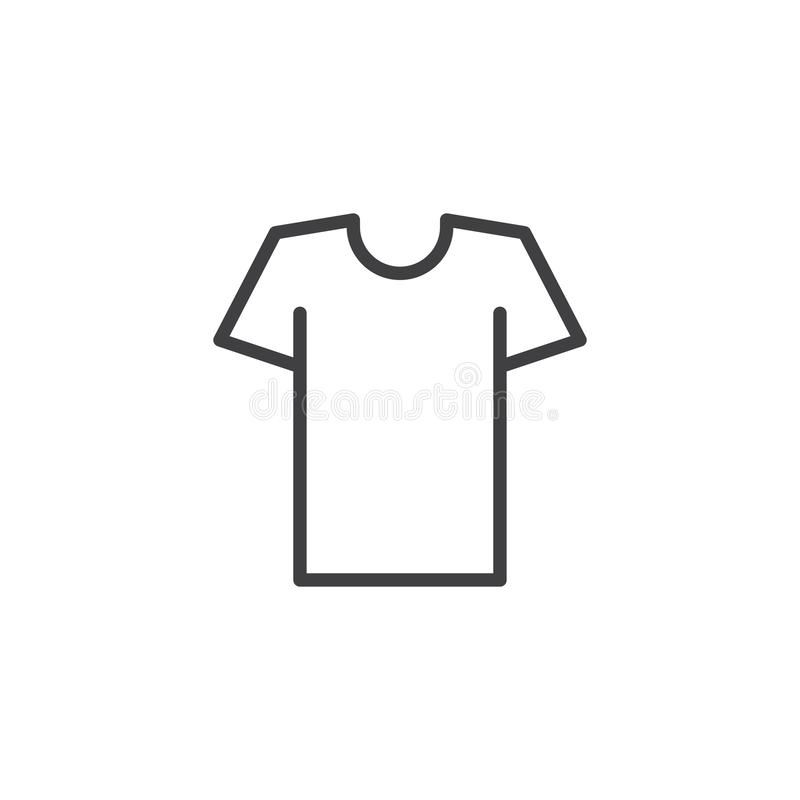 Icona del profilo della maglietta illustrazione vettoriale