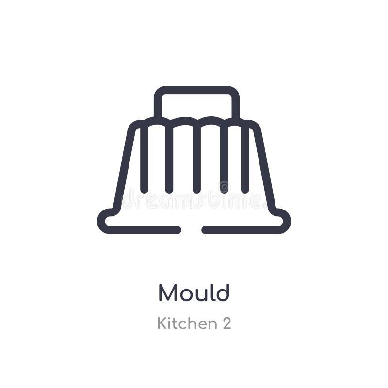 icona del profilo della muffa linea isolata illustrazione di vettore dalla raccolta della cucina 2 icona sottile editabile della  illustrazione di stock
