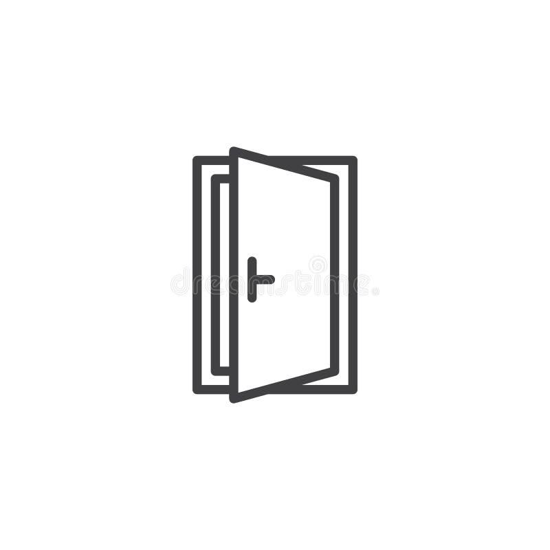 Icona del profilo della porta aperta royalty illustrazione gratis