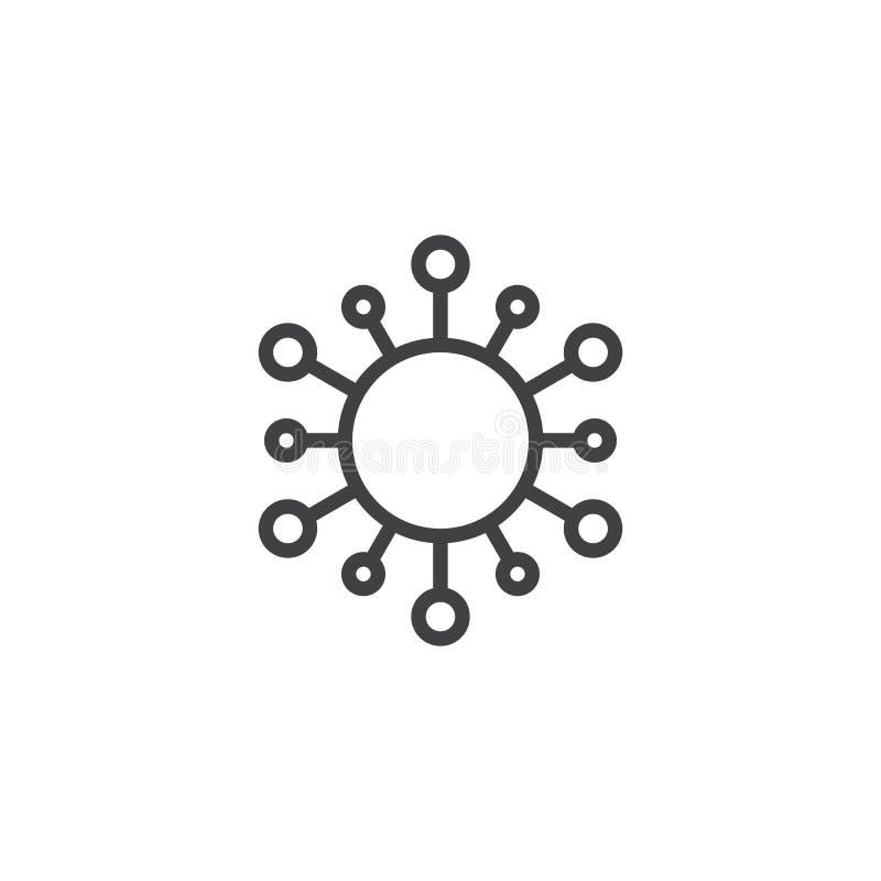 Icona del profilo della stella di Sun illustrazione vettoriale