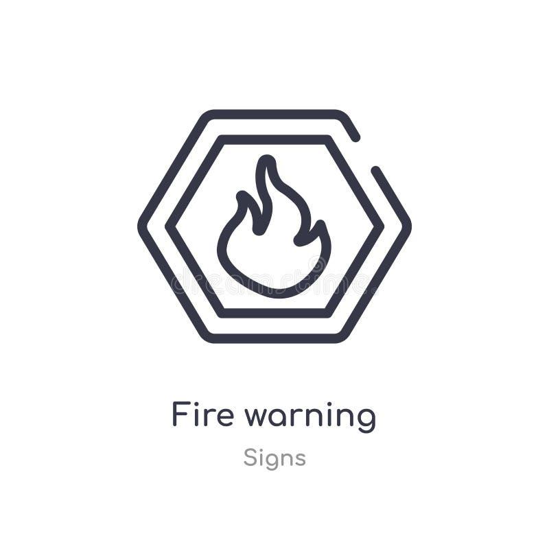 icona del profilo di allarme antincendio linea isolata illustrazione di vettore dalla raccolta dei segni icona sottile editabile  illustrazione di stock