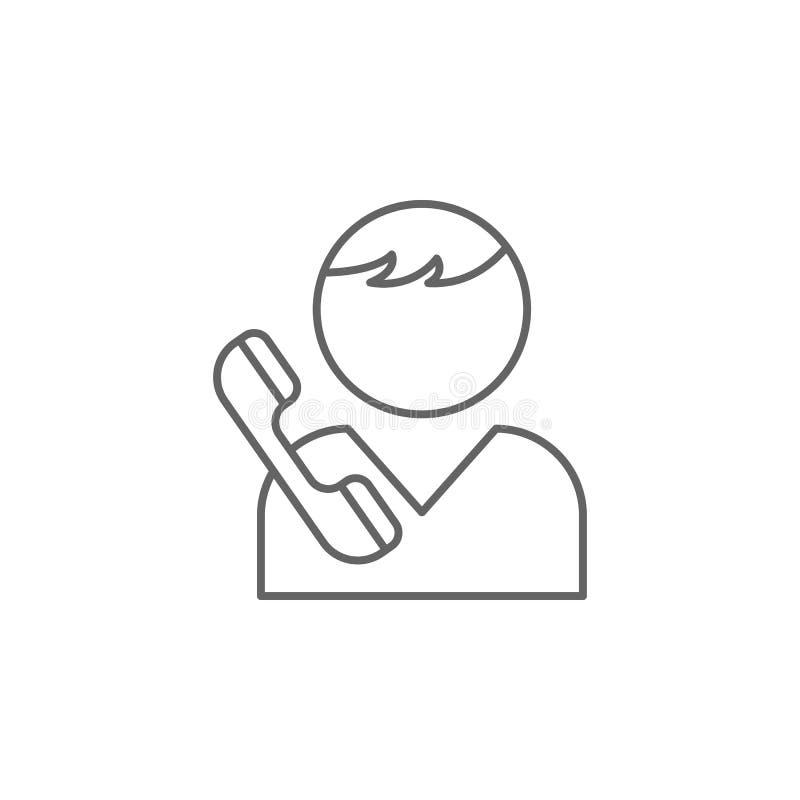 icona del profilo di amicizia di chiamata del ragazzo Elementi della linea icona di amicizia I segni, i simboli ed i vettori poss illustrazione di stock