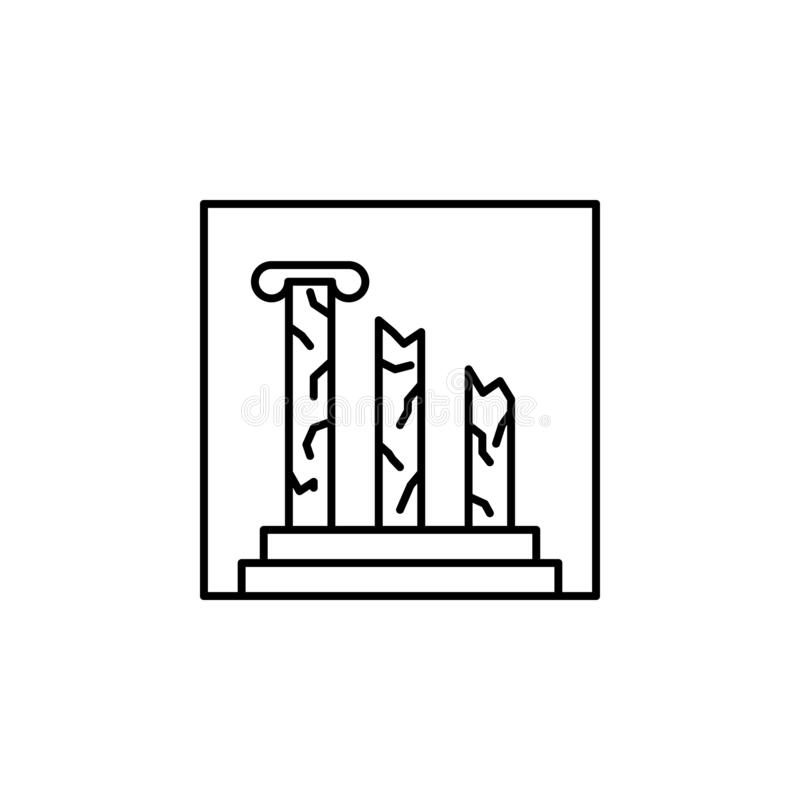 icona del profilo di architettura Elemento dell'icona del profilo del paesaggio per i apps mobili di web e di concetto Linea sott illustrazione di stock