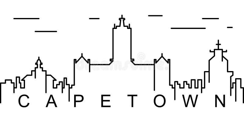 Icona del profilo di Cape Town Può essere usato per il web, il logo, il app mobile, UI, UX royalty illustrazione gratis
