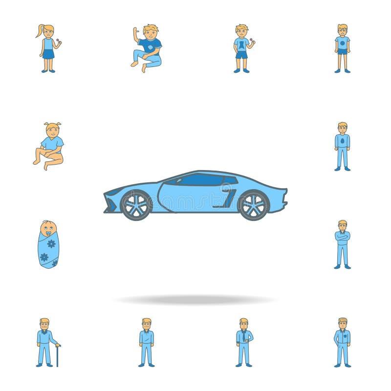 icona del profilo di colore dell'automobile sportiva dell'automobile Una delle icone della raccolta per i siti Web, web design royalty illustrazione gratis