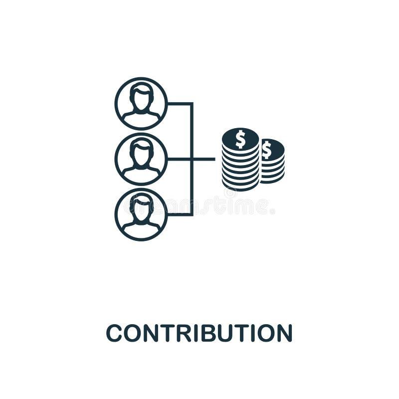 Icona del profilo di contributo Progettazione premio di stile dalla raccolta delle icone della gestione di progetti Icona semplic illustrazione vettoriale