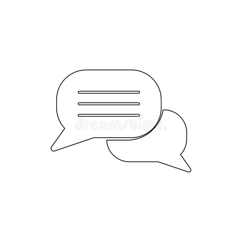 Icona del profilo di conversazione del messaggio di conversazione di commento di chiacchierata della bolla I segni ed i simboli p illustrazione vettoriale