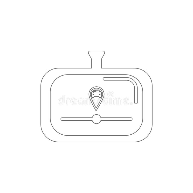icona del profilo di navigazione Elementi dell'icona dell'illustrazione di riparazione dell'automobile I segni ed i simboli posso illustrazione vettoriale