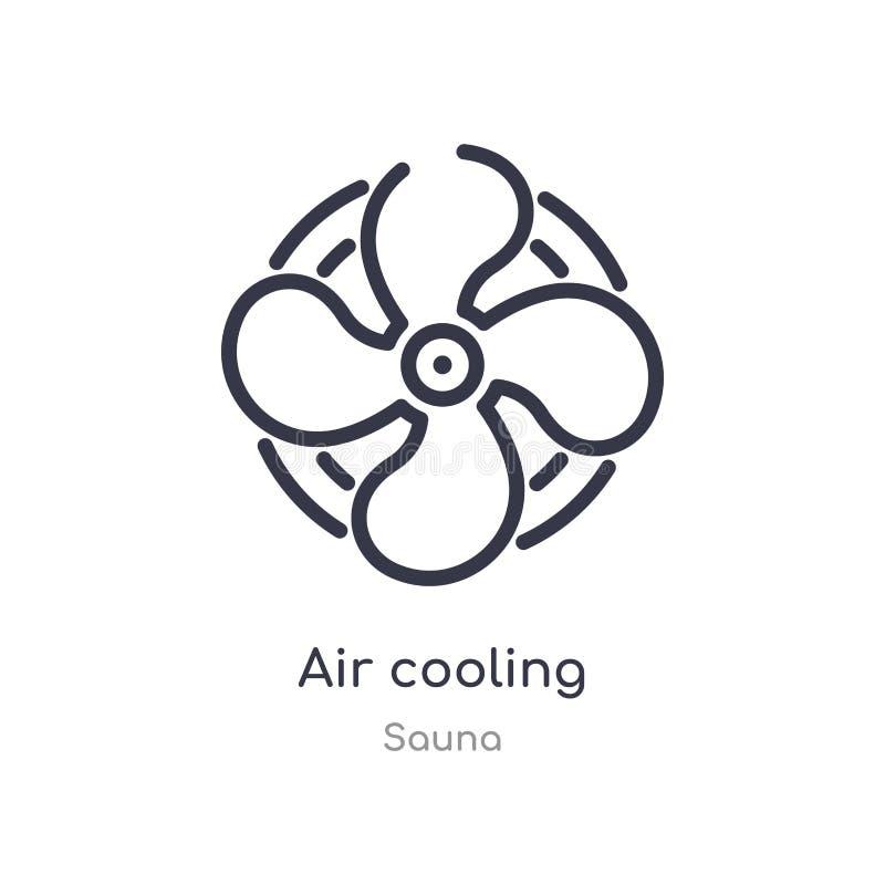 icona del profilo di raffreddamento a aria linea isolata illustrazione di vettore dalla raccolta di sauna icona sottile editabile royalty illustrazione gratis