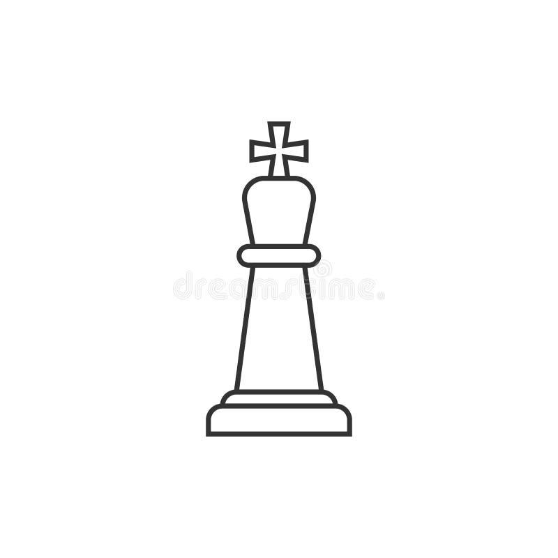 Icona del profilo di re di scacchi illustrazione vettoriale