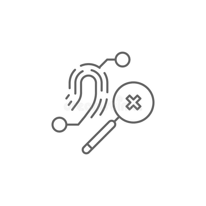 Icona del profilo di ricerca della giustizia Elementi della linea icona dell'illustrazione di legge I segni, i simboli ed i vetto illustrazione di stock