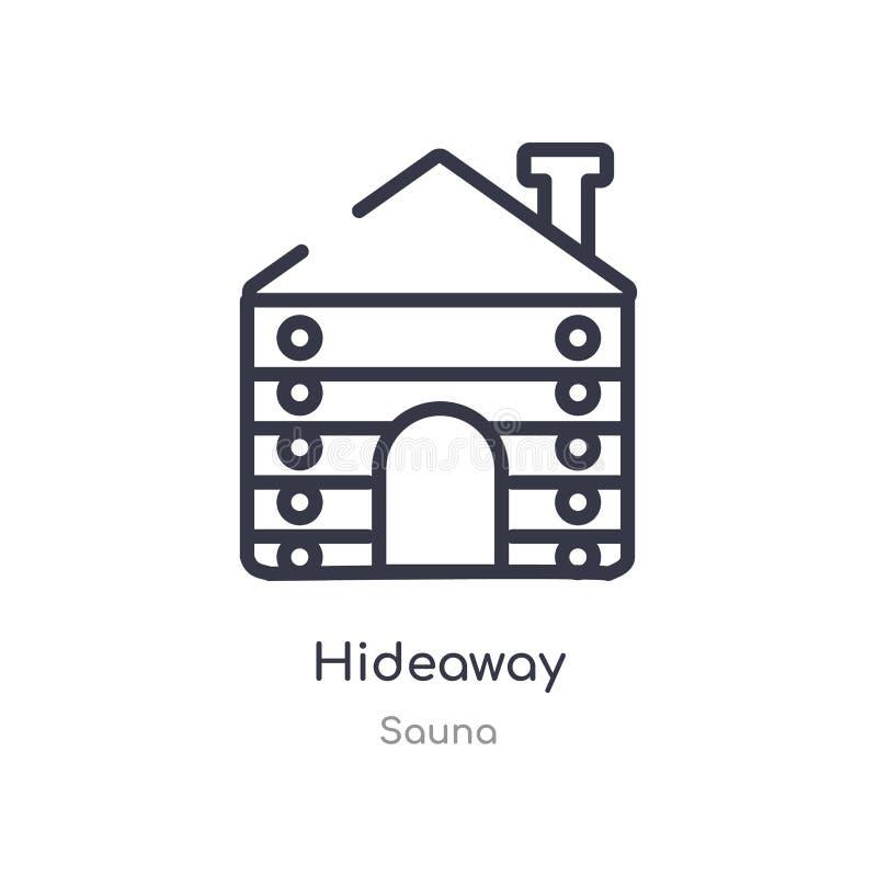 icona del profilo di rifugio linea isolata illustrazione di vettore dalla raccolta di sauna icona sottile editabile di rifugio de illustrazione di stock