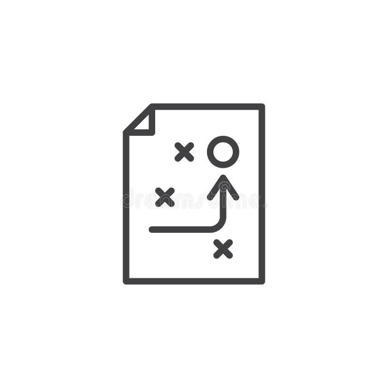 Icona del profilo di schema di strategia illustrazione vettoriale