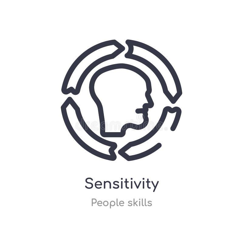 icona del profilo di sensibilità linea isolata illustrazione di vettore dalla raccolta di abilit? della gente icona sottile edita royalty illustrazione gratis