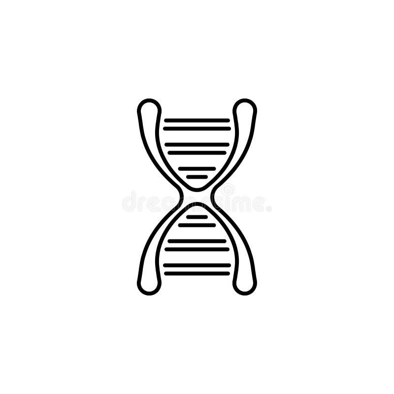 Icona del profilo di sequenza del DNA dell'organo umano I segni ed i simboli possono essere usati per il web, logo, app mobile, U illustrazione vettoriale