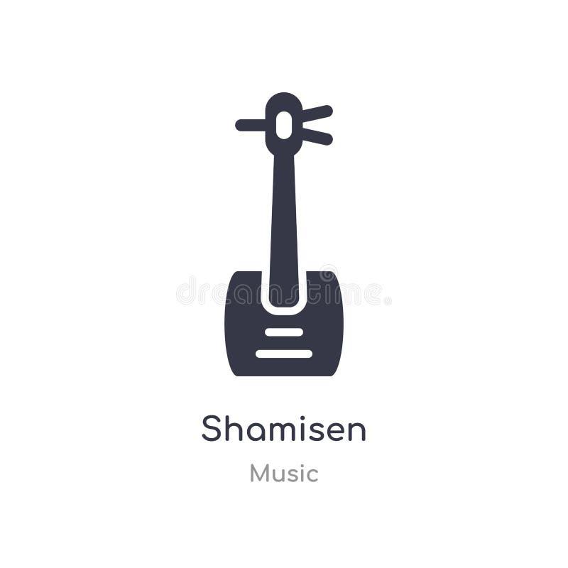 icona del profilo di shamisen linea isolata illustrazione di vettore dalla raccolta di musica icona sottile editabile di shamisen illustrazione di stock