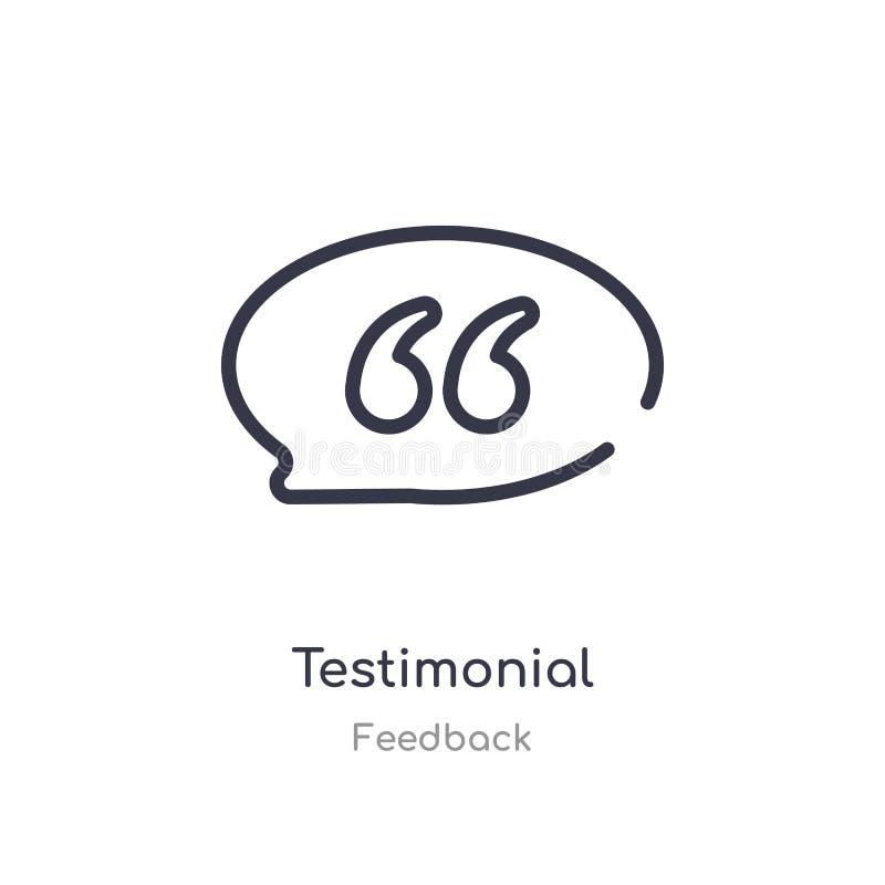 icona del profilo di testimonianza linea isolata illustrazione di vettore dalla raccolta di risposte icona sottile editabile di t illustrazione vettoriale