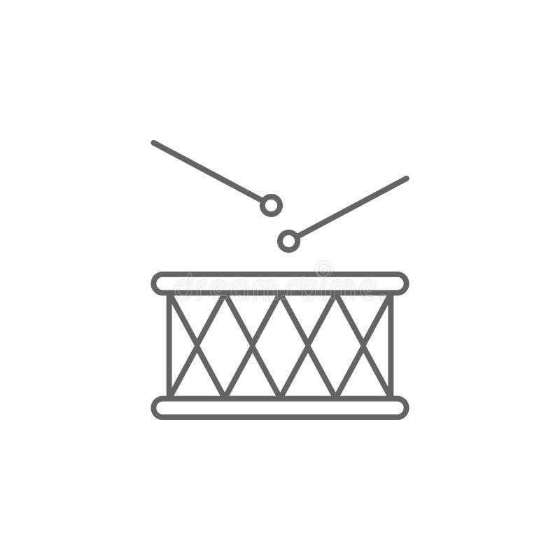 Icona del profilo di U.S.A. del tamburo I segni ed i simboli possono essere usati per il web, logo, app mobile, UI, UX royalty illustrazione gratis