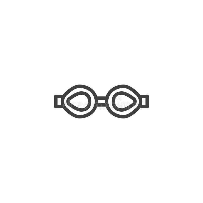 Icona del profilo di vetro di nuoto royalty illustrazione gratis