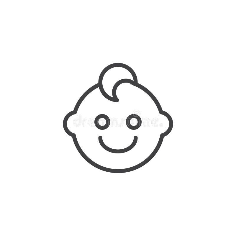 Icona del profilo del fronte del neonato royalty illustrazione gratis