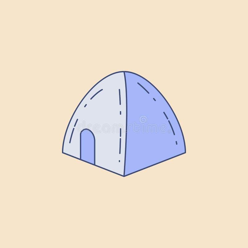 icona del profilo del giacimento della tenda Elemento dell'icona all'aperto di ricreazione per i apps mobili di web e di concetto royalty illustrazione gratis