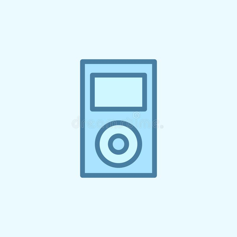 icona del profilo del giacimento del lettore Un elemento di un'icona semplice di 2 colori Linea sottile icona per progettazione d illustrazione di stock