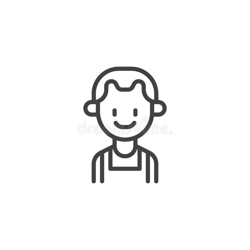 Icona del profilo del giocatore di pallacanestro illustrazione vettoriale