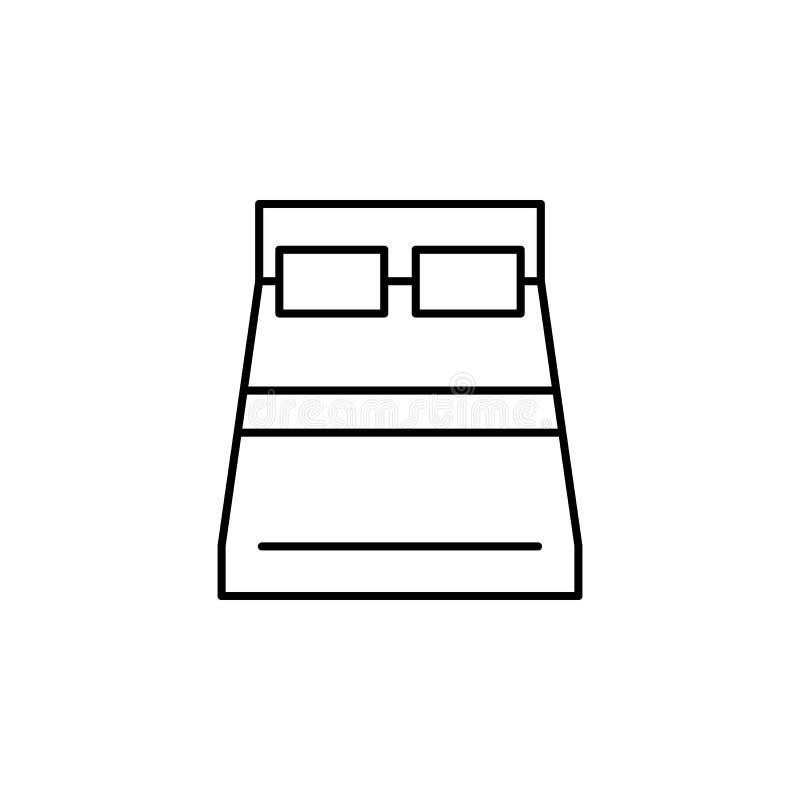 Icona del profilo del letto Elemento dell'icona dell'illustrazione di stile di vita Progettazione grafica di qualit? premio Segni royalty illustrazione gratis