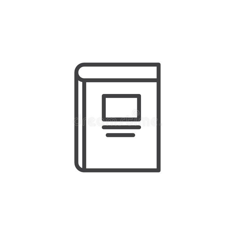 Icona del profilo del libro di testo illustrazione di stock