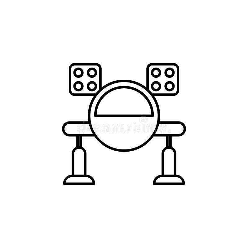 Icona del profilo del missile di robotica I segni ed i simboli possono essere usati per il web, logo, app mobile, UI, UX illustrazione vettoriale