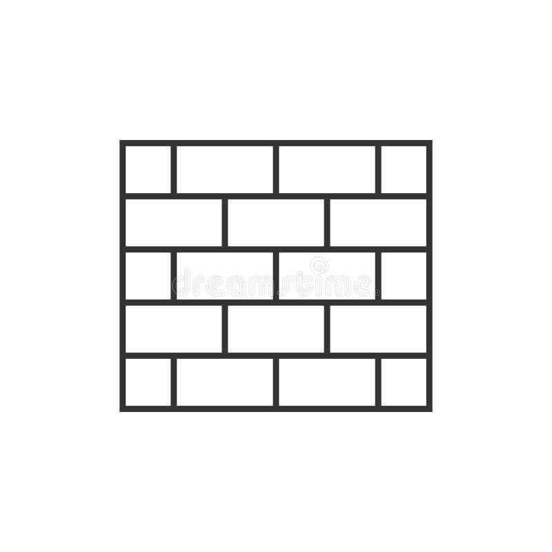 Icona del profilo del muro di mattoni illustrazione di stock