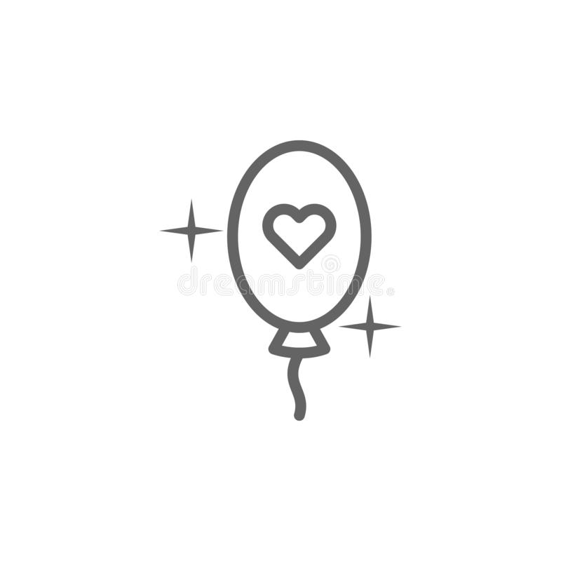 Icona del profilo del pallone di giorno di madri Elemento dell'icona dell'illustrazione di giorno di madri I segni ed i simboli p illustrazione vettoriale