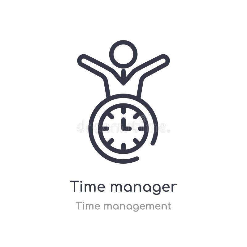 icona del profilo del responsabile di tempo linea isolata illustrazione di vettore dalla raccolta della gestione di tempo respons illustrazione di stock